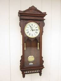 vintage new england clock co colonial weight driven pendulum chime