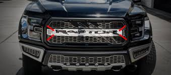 logo ford 2017 2017 ford raptor front raptor logo slash center grille with opt