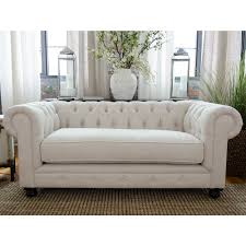 Fabric Chesterfield Sofa Furniture Grey Fabric Chesterfield Sofa With Two Ceramic Vases