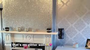 My Livingroom by Decorating My Living Room Glittery Fireplace Wall Youtube