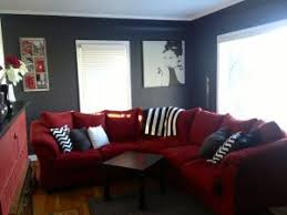 Red And Black Furniture For Living Room by Top 25 Best Red Sectional Sofa Ideas On Pinterest Large