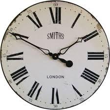 Wall Clock Smiths Antique White Wall Clock 50cm