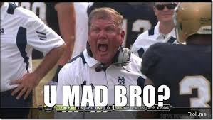 Notre Dame Football Memes - notre dame fans like these are the reason the irish will never come