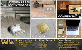 enerlites 705507 c floor box flip open lid kit by electrical