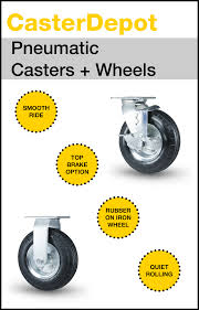 a smooth ride presented by pneumatic casters wheels