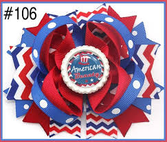 fourth of july hair bows 3 layered kanzashi flower hair 030630130617006 1 79