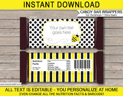 bee hershey candy bar wrappers personalized candy bars