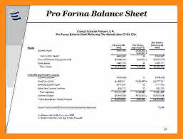 Pro Forma Balance Sheet Template 6 Proforma For Balance Sheet Actor Resumed