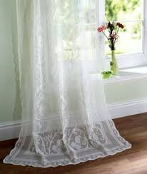 Heirloom Lace Curtains Heirloom Lace Fabric Comes In Both White And Ecru And Is A Match