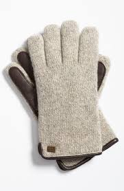 ugg gloves sale uk lyst ugg knit gloves with genuine shearling lining in