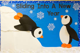 Door Decorations For Winter - winter bulletin boards