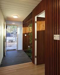 interior opened door of indoor area of house with eichler