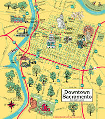 San Diego State Map by Map Of Downtown Sacramento
