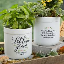 personalized flower pot personalized flower pots let grow