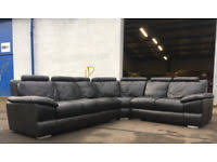Large Black Leather Corner Sofa Leather Corner Sofa In Scotland Sofas Armchairs Couches