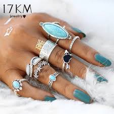 vintage rings aliexpress images 17km vintage big stone midi ring set for women boho antique silver jpg