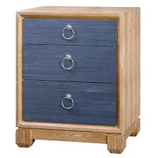 Navy Side Table District17 Calvin 3 Drawer Side Table Navy Nightstands
