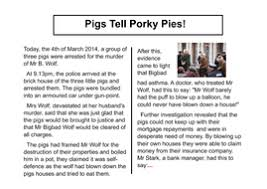 pigs newspaper report big write video