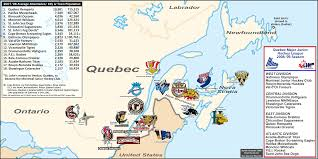 Map Of Quebec Junior Hockey In Canada The Qmjhl 2008 09 Season