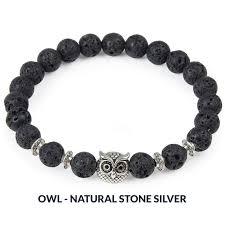 black bead charm bracelet images Natural stone bead charm bracelet owl leopard lion designs a jpg