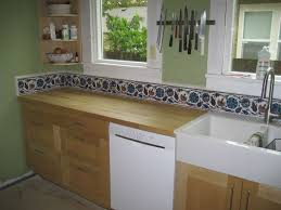 painted tiles for kitchen backsplash painted tiles kitchen backsplash modern railing stairs and