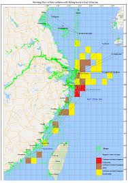 East China Sea Map Expected Rise In The Number Of Fishing Vessels In Chinese Gard