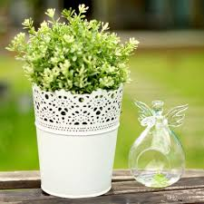 creative hydroponics hanging angle glass flower vase candle holder