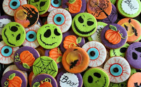 halloween cookies full hd wallpaper and background 2560x1600