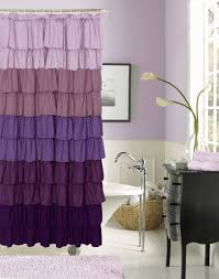 lavender bathroom ideas shower curtain closed bathtub side work