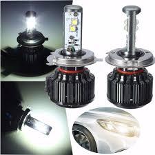 Led White Light Bulbs by Pair 9003 H4 80w 8000lm 6000k Led Xenon White Light Bulbs