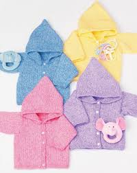 simple baby hoodies allfreeknitting