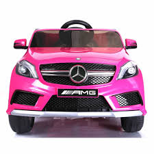 pink mercedes mercedes a45 12v ride on electric car with remote pink