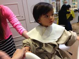 little miss u0027 first haircut at private i garden kids salon