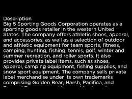 big 5 sporting goods black bgfv big 5 sporting goods corporation bgfv buy or sell buffett