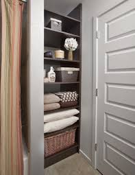 Closet Bathroom Ideas Bathroom Closet Organization Special Spaces Organizers Direct