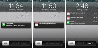 Iphone 5 Symbols On Top Bar Inside Ios 5 New Lock Screen Notifications Receding Imessage