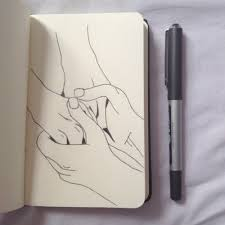 draw a couple holding hands