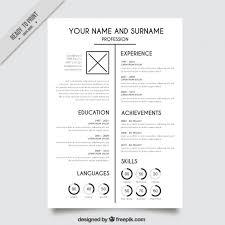 Elegant Resume Templates Elegant White Resume Template Vector Free Download