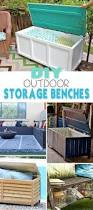 Outdoor Storage Bench Building Plans by Diy Outdoor Storage Benches Outdoor Storage Storage Benches And