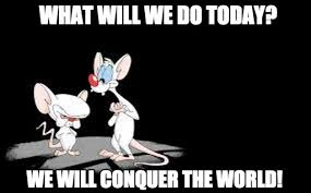 Pinky And The Brain Meme - what will we do today pinky and brain meme on memegen