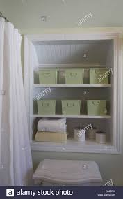 Shelves For Towels In Bathrooms Bathrooms Detail Niche Shelves Towels Storage Boxings Bath Stock