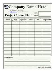 free template for action plan