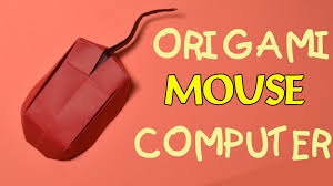 origami easy how to make origami mouse computer youtube
