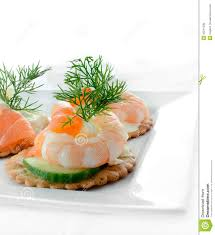 canapes with prawns seafood salad canapes stock photo image of cheese filled 45241036