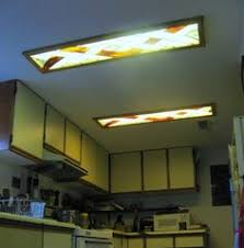 Kitchen Ceiling Lights Ideas Change The Look Of Any Fluorescent Light Fixture With Our Special