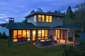building a home in vermont efficient lake chlain house is built from salvaged materials in