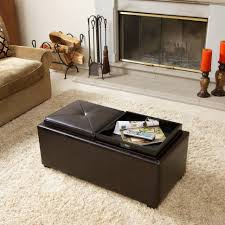 Pouf Coffee Table Furniture Patterned Storage Ottoman Cube Coffee Table Circular