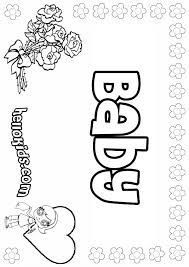baby coloring pages hellokids