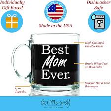 Christmas Gifts For Mother In Laws Amazon Com Best Mom Ever Glass Coffee Mug 13 Oz Top Birthday