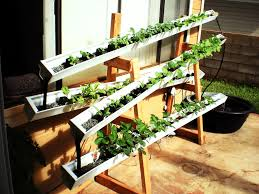How To Make Self Watering Planters by Diy Aquaponics How To Build A Self Watering Rain Gutter Garden